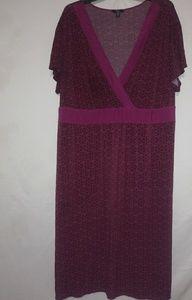 Fushia Tie Back Dress Sz 24/26W Plus